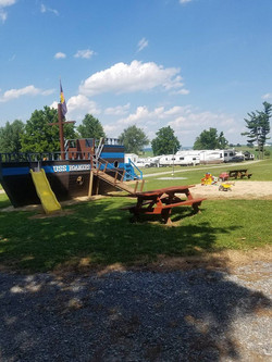 Playground in front of cabin 1b