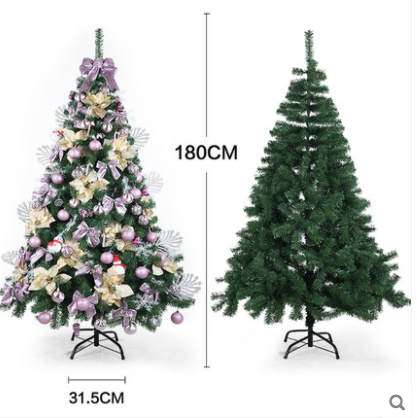 2 4m Rose Gold Christmas Tree With Decor