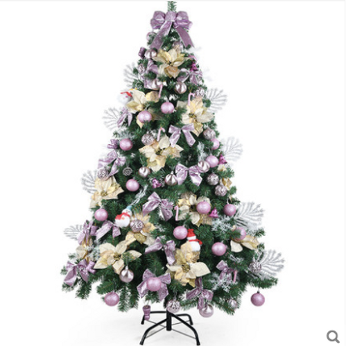 2 1m Rose Gold Christmas Tree With Decor Partyfunhk