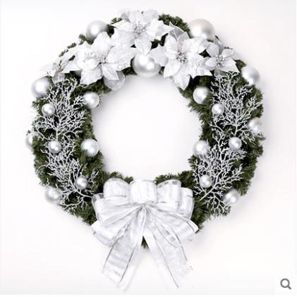 Silver Christmas Wreath.60cm Large Prestigious Silver Christmas Wreath Decoration