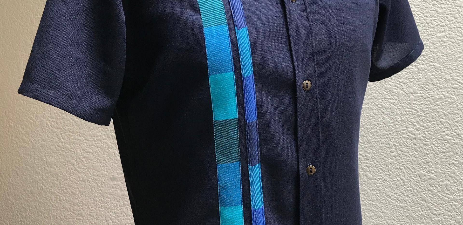 Full Button Short Sleve Shirt with Welt Pocket