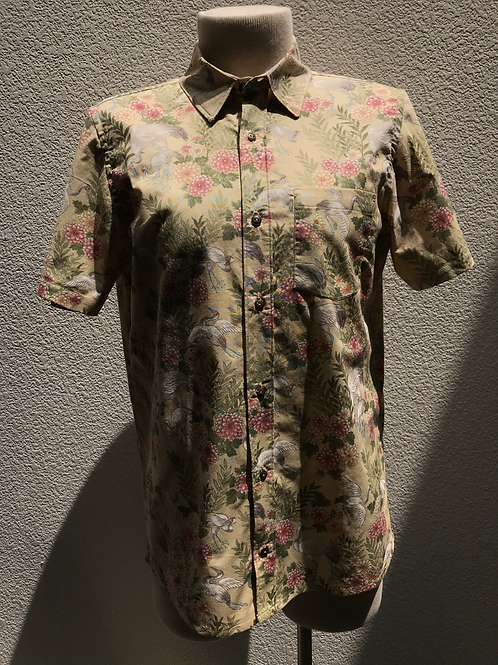 Small Handmade Full Button Short Sleeve Shirt with Patch Pocket (Early Model)