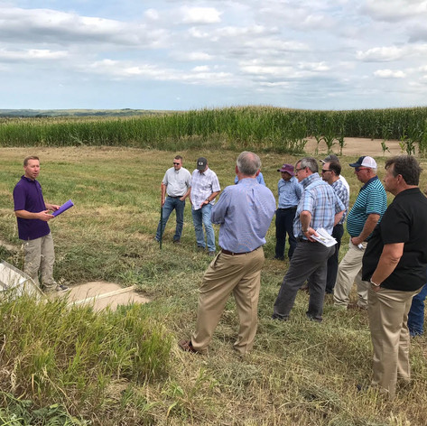 Tour of Kansas State University Research Plots on cover crops and cover cropping programs with Dr. Nathan Nelson, Professor in the KSU Department of Agronomy