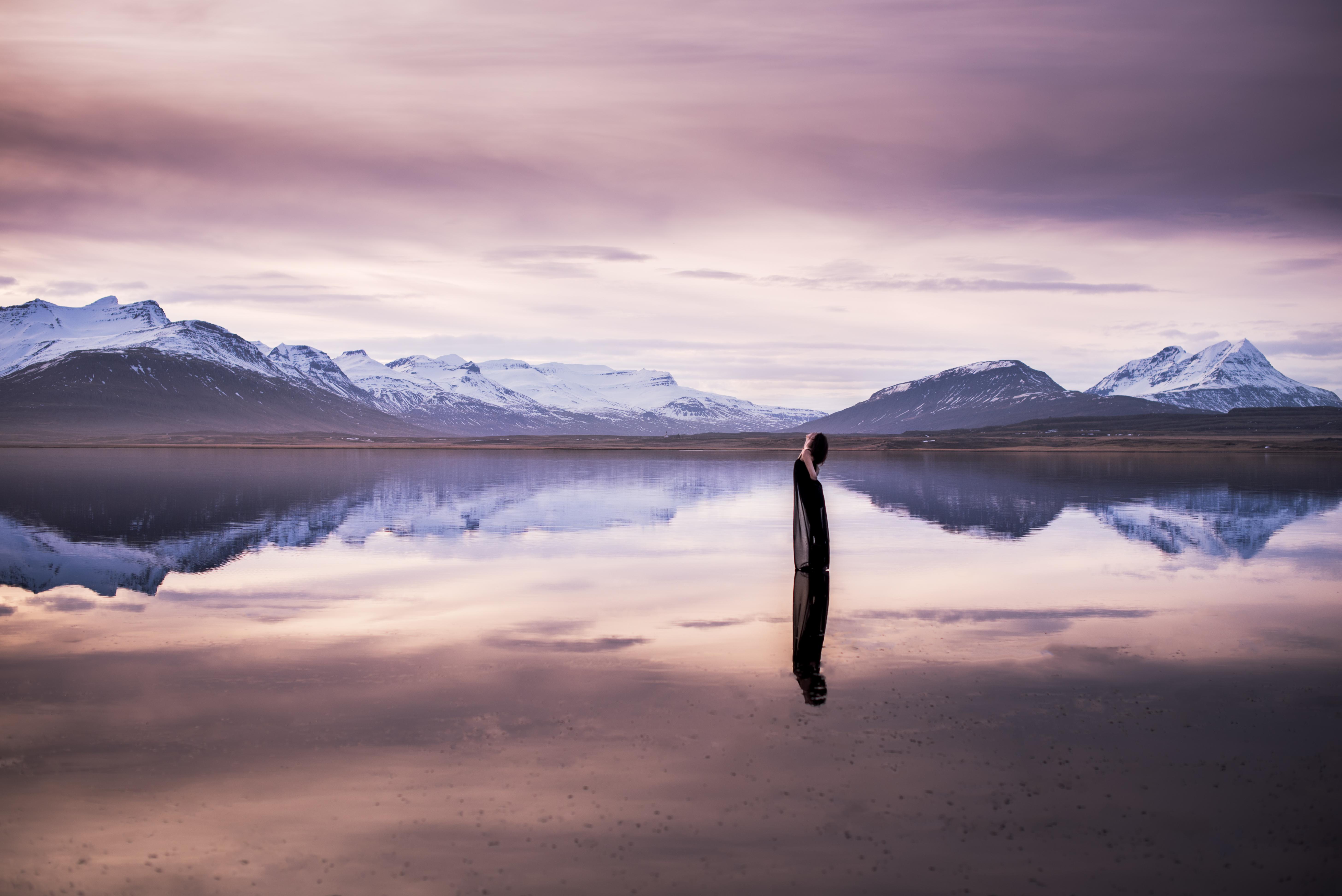 Ciel rose en Islande