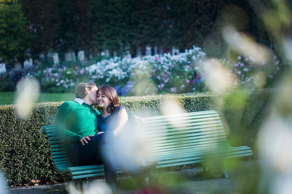 On a bench in Palais Royal Garden