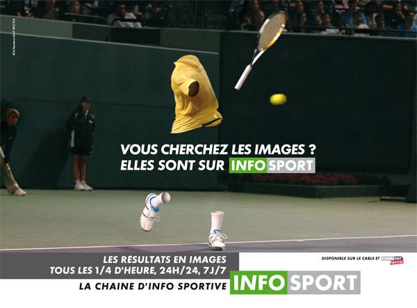 Campagne publicité Infosport Tennis