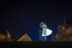couple kissing during night session