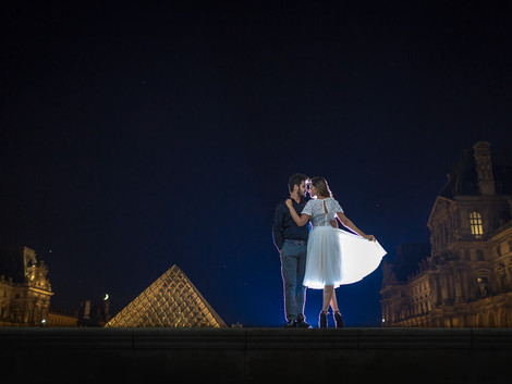Amazing day & night session at Louvre museum