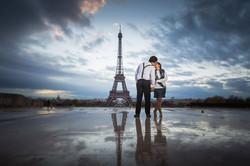 dancing under the rain in paris
