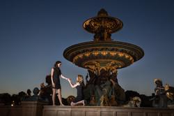 same sex couple proposal paris