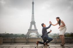 happy proposal in Paris
