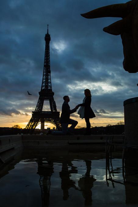 Proposal at Trocadero