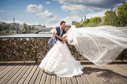 Couple on the Love Lock Bridge