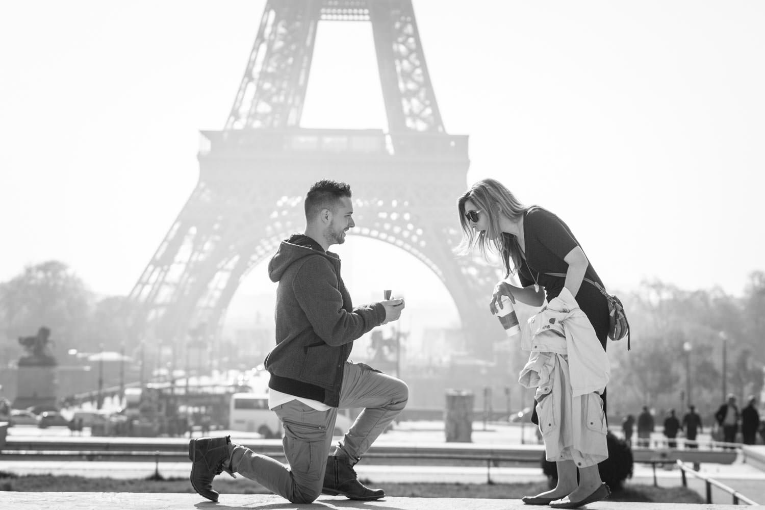 stunning proposal in Paris