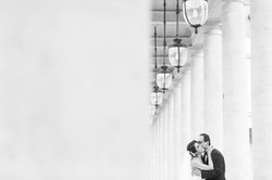 engagement session on Palais Royal
