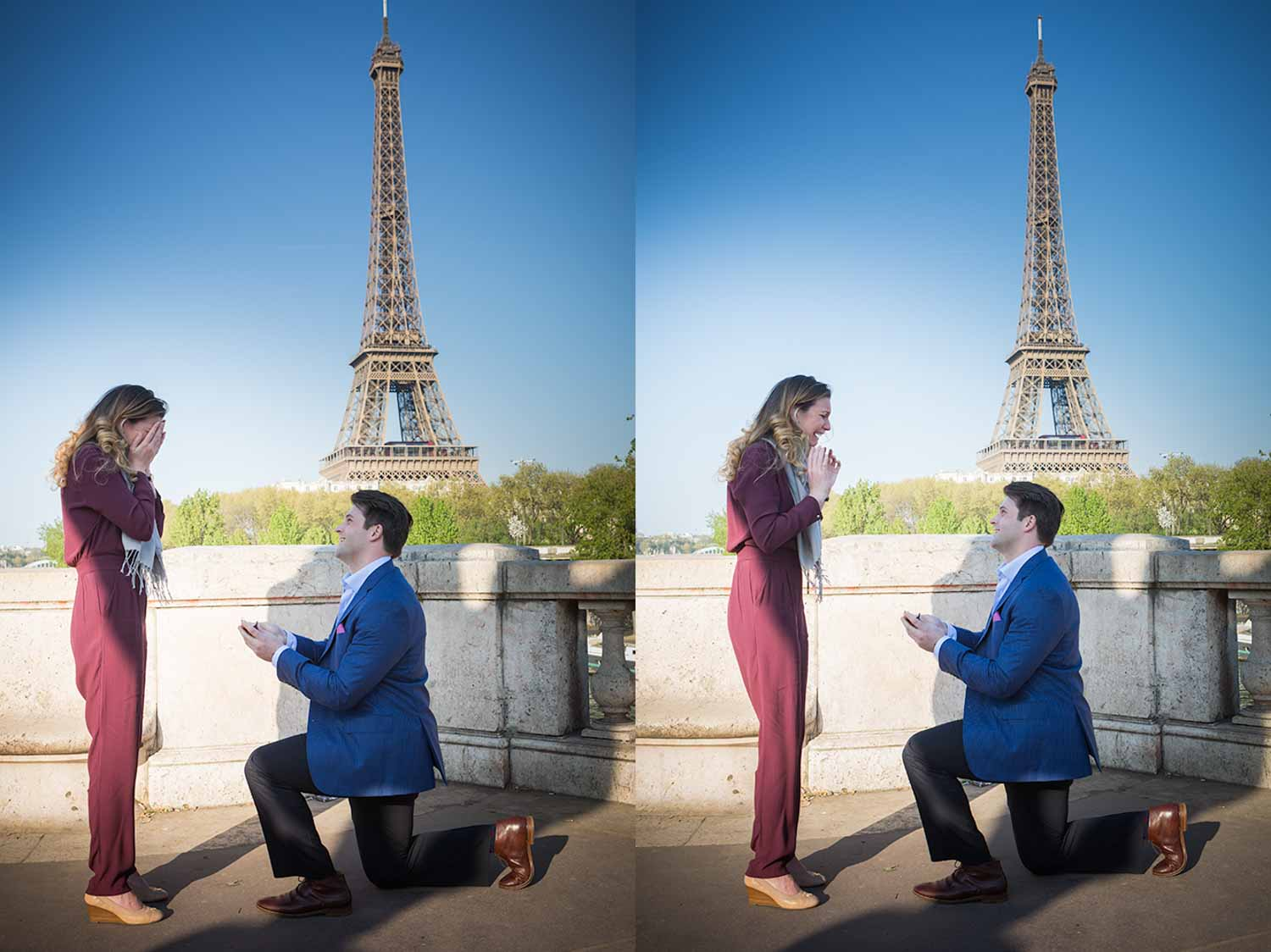 surprise proposal at le louvre