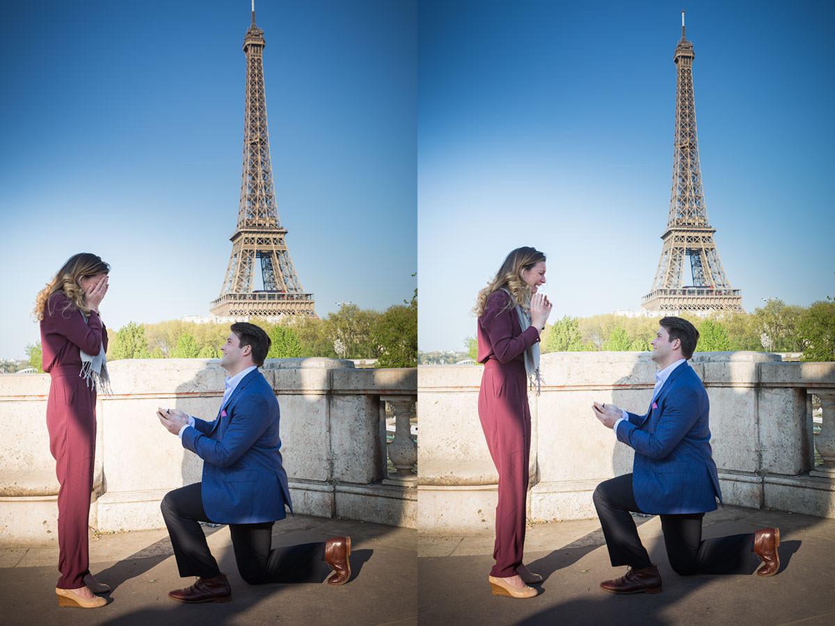 marriage proposal at Bir-Hakeim Bridge