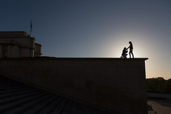 silhouette proposal at the trocadero