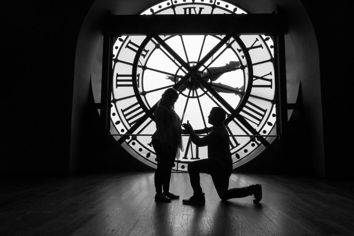 Surprise proposal at Musée d'Orsay