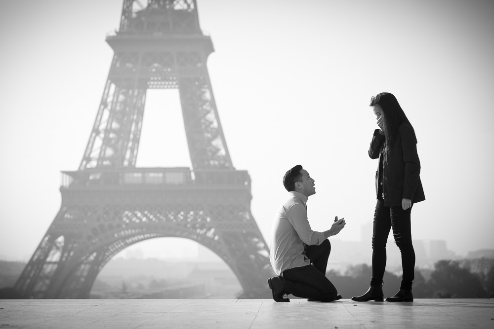 proposal front of the Eiffel tower