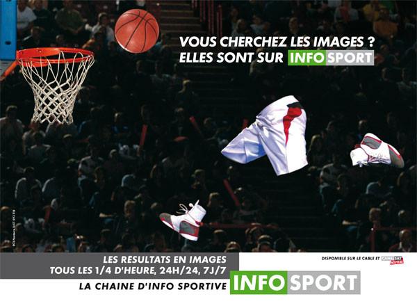 Campagne publicité Infosport Basket