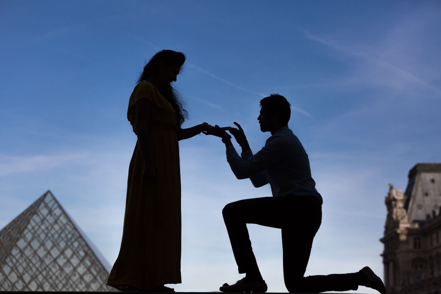 sihouette proposal at le louvre