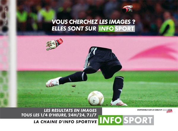 Campagne publicité Infosport Football