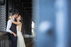 Photo couple at Alexander III Bridge