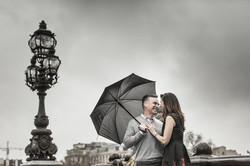 Love session under the rain