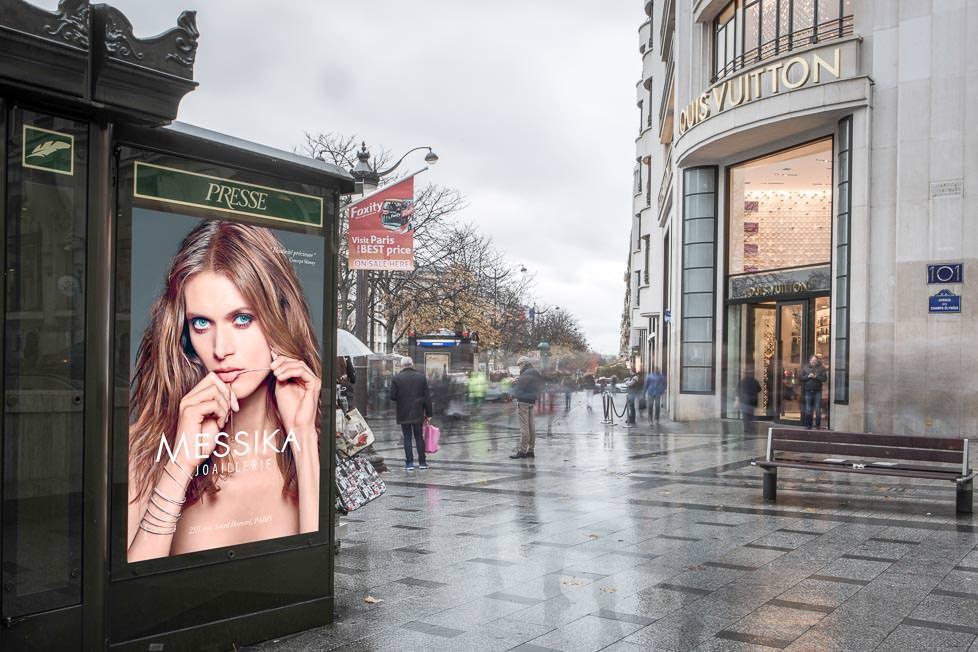 Photographe campagne affichage Messika