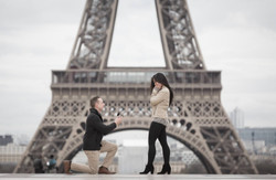 he proposed in front of Eiffel tower