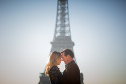 face to face at Eiffel Tower