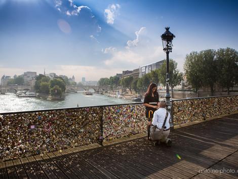 Proposal on the love lock bridge