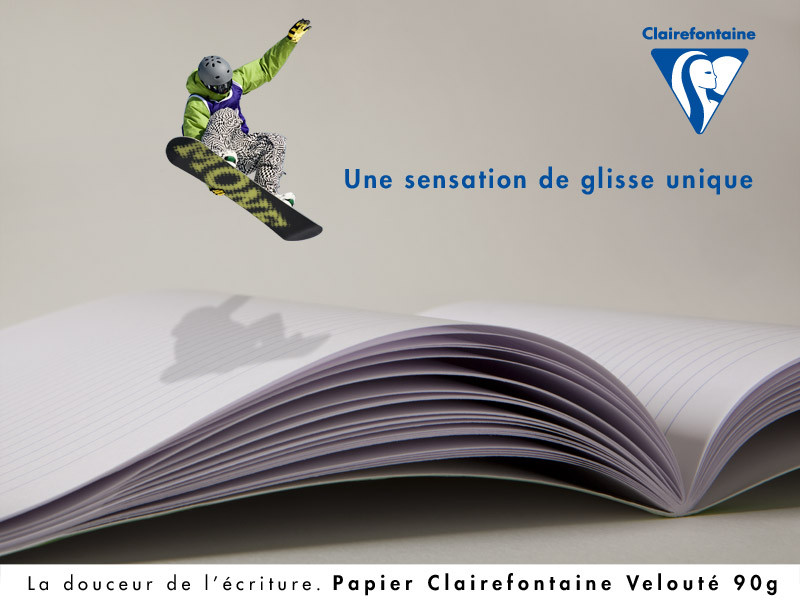 Campagne de publicité Clairefontaine