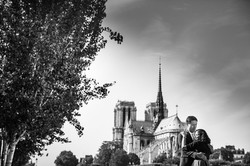 engagement session at Notre Dame