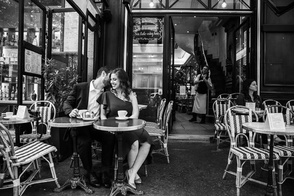 Lovely couple in Paris