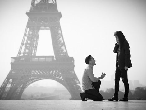 Proposal at Eiffel Tower + lovely Engagement session