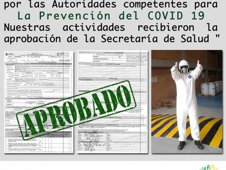 En OCADE SAS tenemos la aprobación de la Secretaria de salud y trabajamos unidos contra el COVID-19