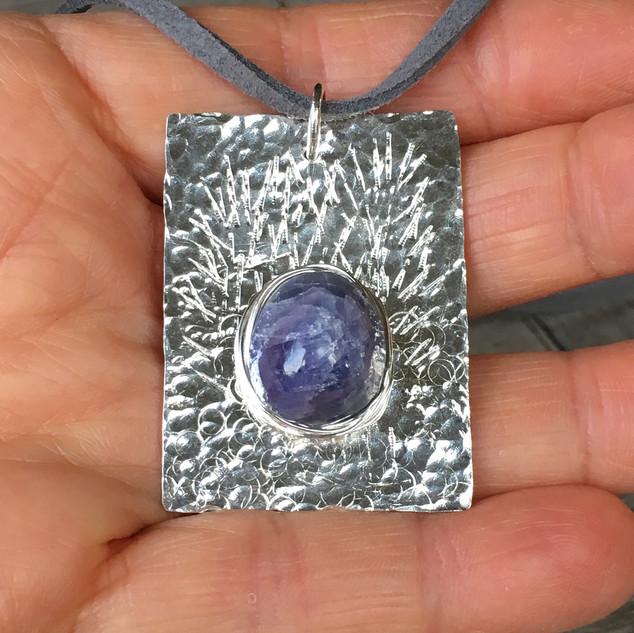 tanzanite & sterling silver pendant