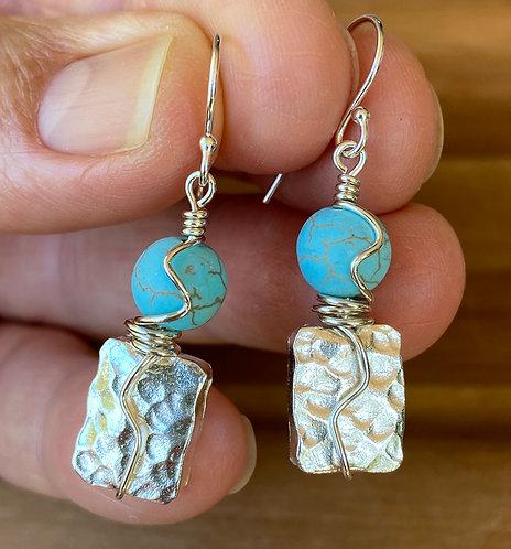 Magnesite & Silver Earrings