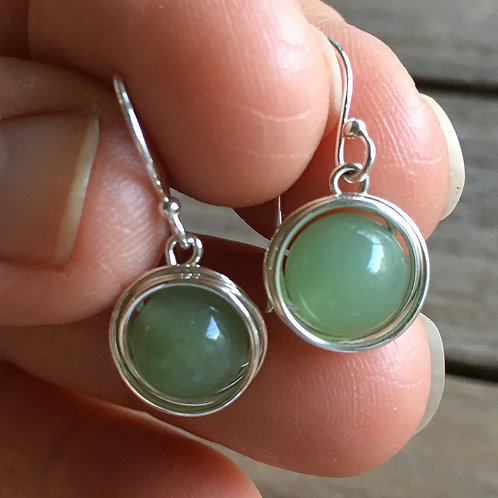 Wire Wrapped Drops - Aventurine