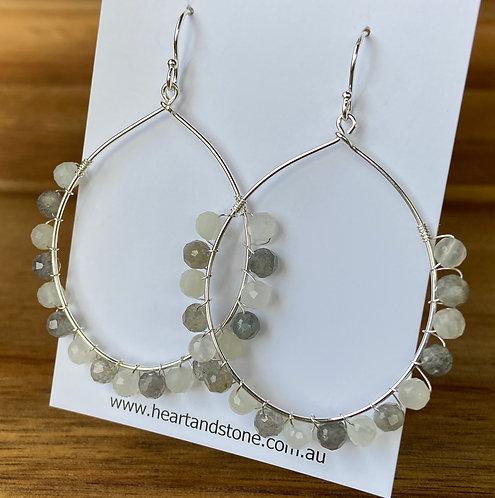 Labradorite & Moonstone Earrings
