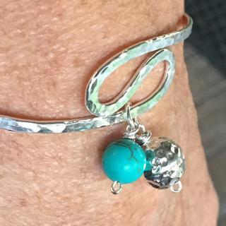 sterling silver & magnesite bracelet