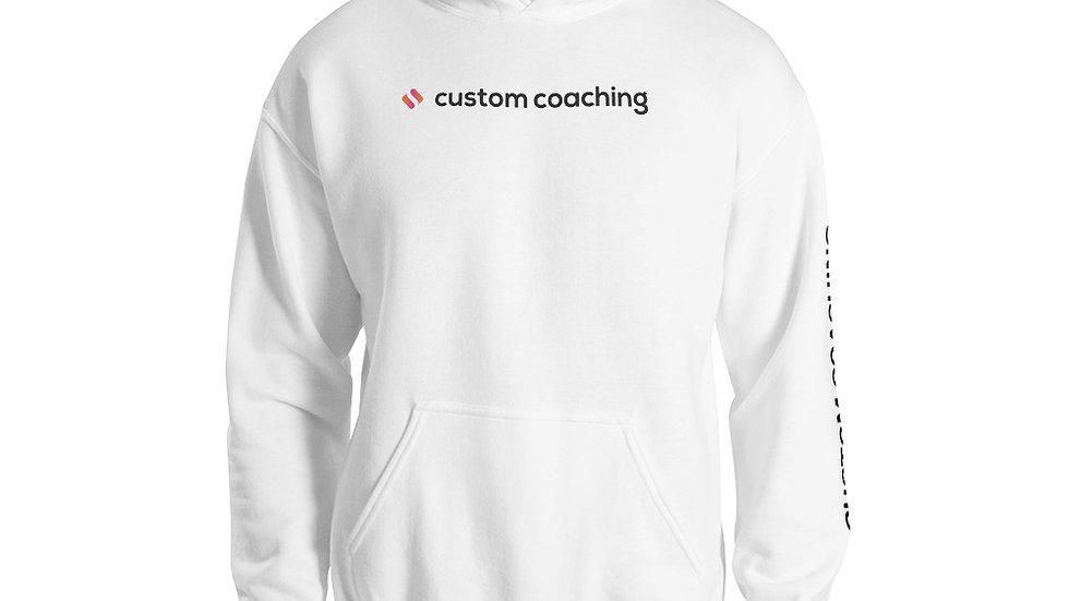 Sweat à capuche blanc custom coaching