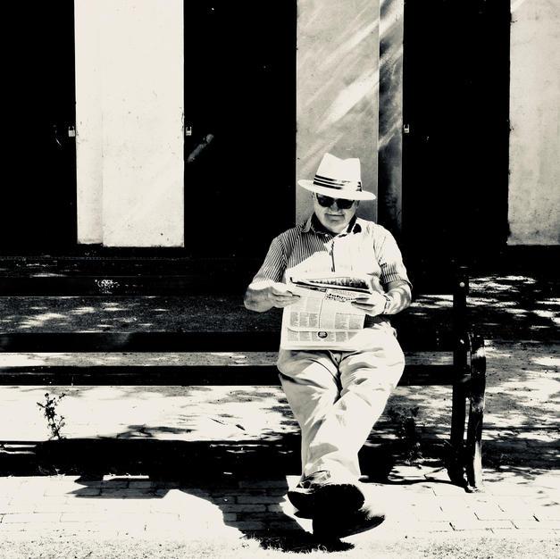 Sun On Man On Bench (Lockdown 1)