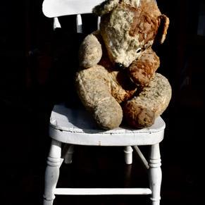 'Teddy On A White Chair'