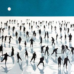 'Moonlight Ice Skaters'