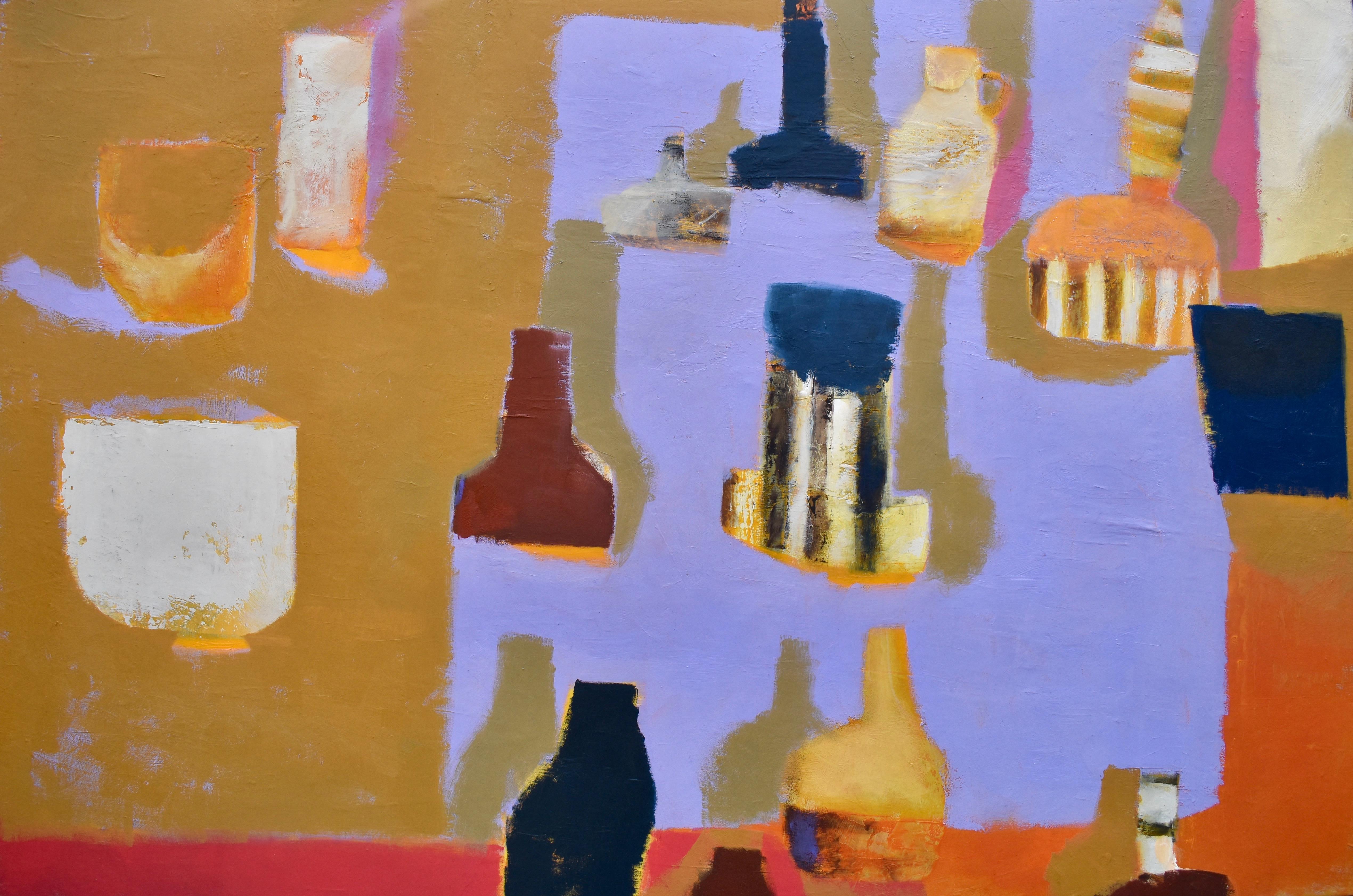 Still Life in Violet Imparting Lemon Shadows