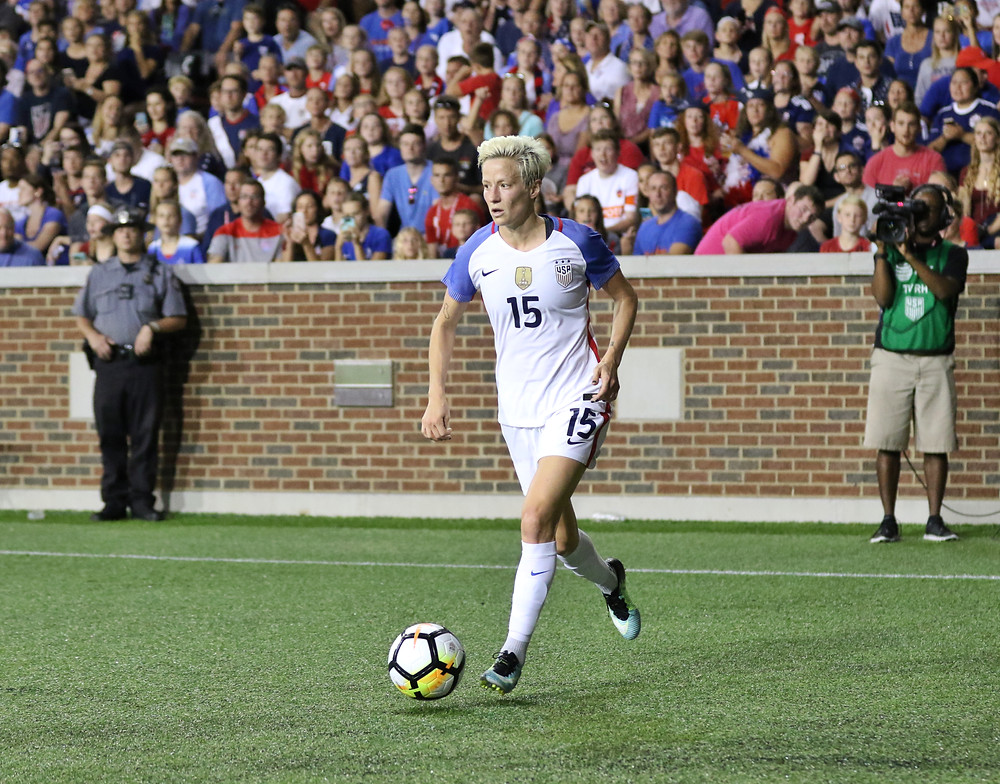 USA star striker Megan Rapinoe may play tonight