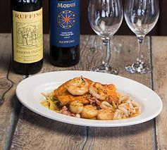 shrimp dinner with wine.jpg